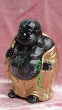 Buddha Figur Glücksbuddha Happy Tempelwächter Feng Shui Statue Optik Marmor 128