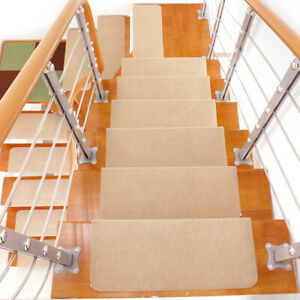 10X Non Slip Stair Treads Anti Slip Clear Tape Adhesive Stair Mat for Indoor