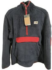 The North Face Half Zip CAMPSHIRE Jacket Blue & Red **Large**