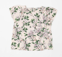 Dorothy Perkins Womens Size 8 Floral Pink Top (Regular)