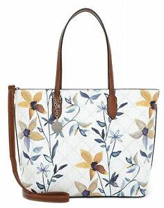 Tamaris Anastasia Flower Shopping Bag Shopper Tasche White / Flower Weiß Blau