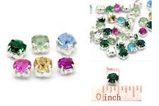 50 Perles Verre Faux Diamant Pierres 5mm Spacer Colliers Pendentifs Bracelets