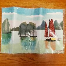 HA LONG BAY LANDSCAPE HAND EMBROIDERY EMBROIDERED ART PAINTING