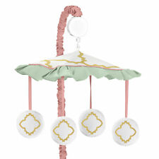 Sweet Jojo Designs Musical Mobile For Mint And Coral Ava Girls Crib Bedding Set