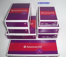 AMERICAN GIRL DOLL LEA LOT - 7 COMPLETE NEW BOXED SETS OF HER ITEMS - NO DOLL