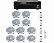 HOME AUDIO SOUND SYSTEM- FLUSH IN-CEILING SPEAKERS & VOL CONTROLS FOR 5+ ROOMS