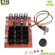 DC 10-50V 60A High-power Motor Speed Control PWM HHO RC Driver Module MAX 3000W