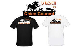 T-shirt HOMME LA PASSION DU CHIEN COURANT