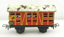 "Marklin HO #386 LIVESTOCK ANIMAL HAULER 3"" Long TIN CAR Made in Germany ~ T65"