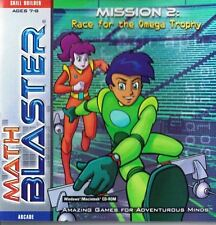 Math Blaster Mission 2 Race for the Omega Trophy Ages 6-8 CD-Rom 2001 Win Mac