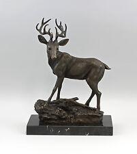 signiert Masson Skulptur Bronze Figur Hirsch 9973055