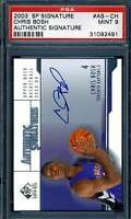 Chris Bosh Psa Mint 9 2003 SP Signature Rookie