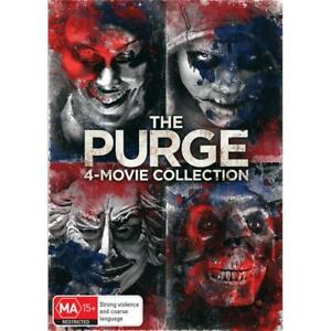 The Purge, Anarchy, Election Year, The first Purge 4 movies DVD collection R4