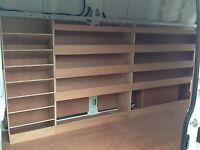 VW Crafter Van Shelving Racking LWB Plywood System Case Storage Unit