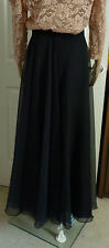 Vintage beautiful black evening skirt fully lined size 14
