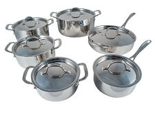 Le Chef 5-ply Stainless Steel 12 Piece Cookware Set, Super Sale.