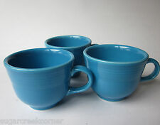 Homer Laughlin Fiesta Turquoise Blue Coffee Cup Mug Set 3