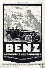 Benz Auto Flugzeug Reklame 1918 Pickelhaube Mercedes spike helmet ad WW1 Soldier