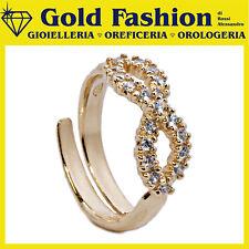 Anello in argento tit 925 placcato oro con pietre Thy Italy collezione Infinity