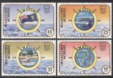 Tuvalu 1982 Scuola/nautico/marittimo Barche Navi///Trasporto/Bandiere 4v Set (b1920)
