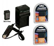 2 Batteries + Charger BLS-1 BLS-01 PS-BLS1 for Olympus E-400  E-410 E-420 E-450