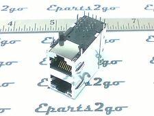 4x RJ45 2PORT MAGJACK SHIELDED JACK CONNECTOR led 8pin cat5/5e/6 modular network