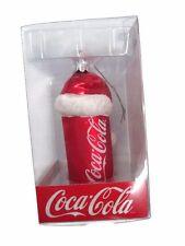 Coca-Cola Kurt Adler Coca-Cola Can with Santa Hat Mercury Glass Ornament
