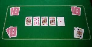 Texas Poker HoldEm Layout Table Top Mat Pad Cover Casino Card Game Green Felt