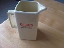 Miniature DEWARS WHISKY  White Label Water Jug,  Unused, 12cm tall, PDM