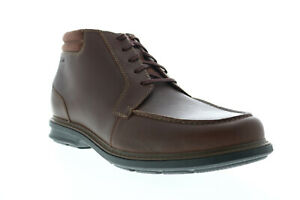 Clarks Rendell Rise 26145351 Mens Brown Wide Leather Lace Up Chukkas Boots
