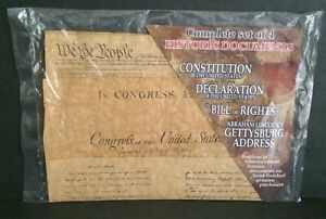 Set 4 Replicas Americas Historic Documents Constitution Bill Of Rights etc.. A87