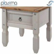 CORONA Grey Washed 1 Drawer Lamp Table