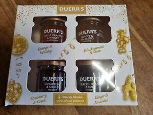 Duerrs spirit infused preserves Festive Selection jams CHRISTMAS PRESENT 4 jars