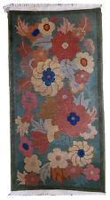 Tapis ancien Chinois Art Deco fait main 64cm x 119cm 1920 1B540