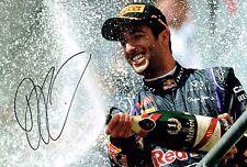 Daniel RICCIARDO Autograph SIGNED Photo Red Bull RENAULT Podium F1 AFTAL COA