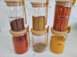 Personalised spice jar labels 12mm width waterproof