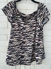 Very ladies stylish top Size 18 In Animal Print Zebra Style Brand New