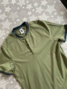 Mens Nike Roger Federer Tennis Top, Short Sleeves, Green, Size Medium