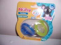 Nuby Soft Flex Silicone Nipple 6m *NEW* **FREE SHIPPING** Qty 2