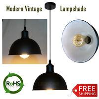 Vintage Industrial Style Metal Black Retro Ceiling Pendant Light Lamp Shades