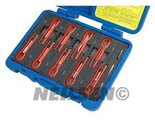Universal 12pc Terminal Release Mechanics Car Garage Cable Extractor Tool Set