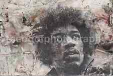 POP ART Photograph Jimi Hendrix Impression Applied  FREE SHIPPING Abstract 6616