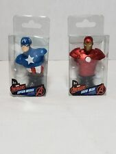 Marvel Avengers Iron Man and Captain America mini paperweight two piece set