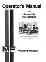 Massey Ferguson MF 1200 Garden Tractor Mower Operators Manual MF1200