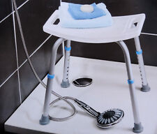 Duschhocker 150kg Duschsitz Badhocker Duschhilfe Aluminium Höhenverstellbar NEU