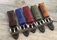 Assolutamente 24mm Leather Watch Strap/Band for Panerai, IWC, Breitling, Rolex