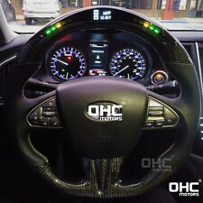 Real Carbon Fiber LED Steering Wheel for Infiniti Q50 LED Performance Display