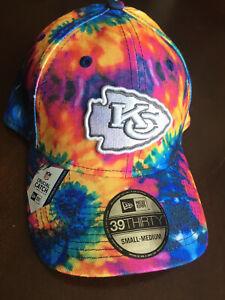 Kansas City Chiefs NFL Crucial Catch 39THIRTY Football Hat Cap Tie-Dye Cancer MO