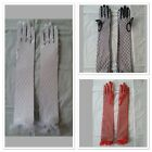 Black Red White Long Lace Gloves Evening Opera Lingerie Dress Costume Accessory