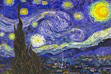 Vincent van Gogh The Starry Night 1888 Dutch Post Impressionist Poster 18x12